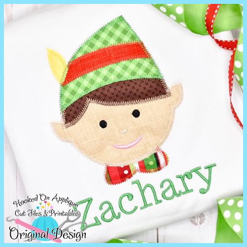 a0785cf5b4e06 Elf Boy Zig Zag Applique