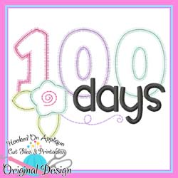 100 Days Flower Applique