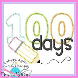 100 Days Pencil Applique