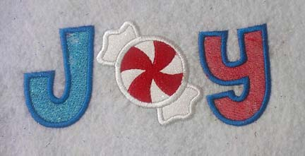 JOY Peppermint Applique