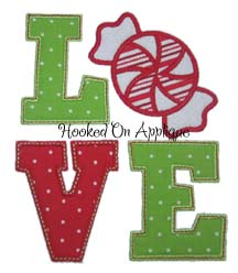 LOVE Peppermint Applique