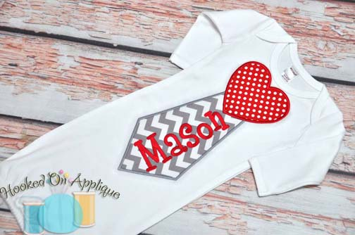 Heart Tie Applique