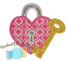 Lock & Key Applique