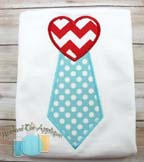 Heart Tie Applique