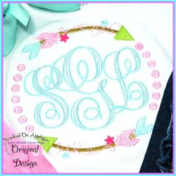 Arrow Circle Embroidery Design