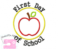 First Day of School Circle Applique