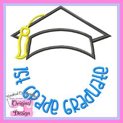 1st Grade Graduate 2 Applique