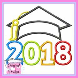 2018 Grad Cap Applique