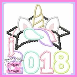 2018 Unicorn Grad  Applique