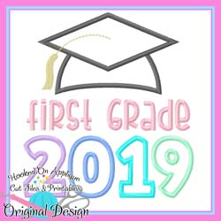 2019 First Grade Grad Applique