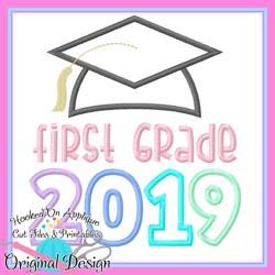 2019 First Grade Grad Applique