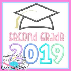 2019 Second Grade Grad Applique