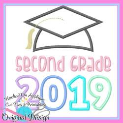 2019 Second Grade Grad Applique