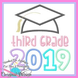 2019 Third Grade Grad Applique