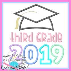 2019 Third Grade Grad Applique