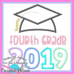 2019 Fourth Grade Grad Applique
