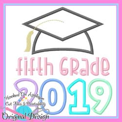 2019 Fifth Grade Grad Applique