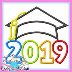 2019 Grad Cap Applique