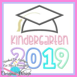 2019 Kindergarten Grad Applique