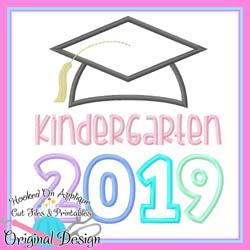 2019 Kindergarten Grad Applique
