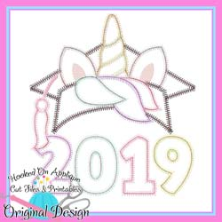 2019 Unicorn Grad Zig Zag Applique