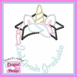 2nd Grade Unicorn Grad Applique
