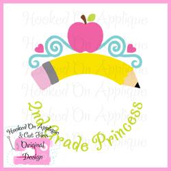 2nd Grade Princess CUT FILE