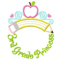 Third Grade Princess Tiara Applique