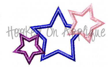 3 Star Applique *FREE*