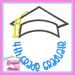 4th Grade Graduate 2 Applique