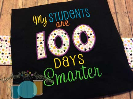 My Students are 100 Days Smarter Applique