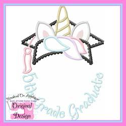 5th Grade Unicorn Grad Applique