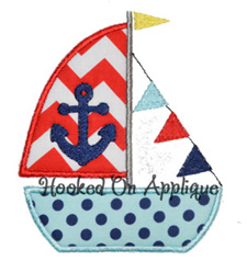 Sailboat Anchor applique