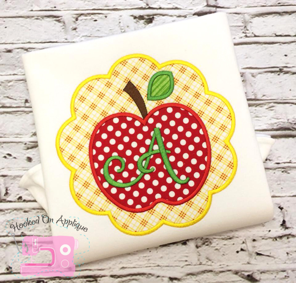 Apple Scallop Applique