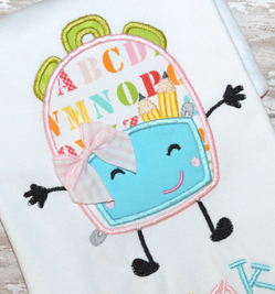 Back Pack Buddy Applique