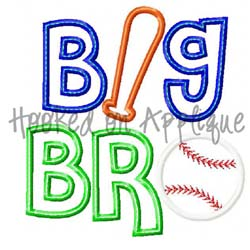 Big Bro Baseball Applique