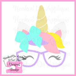 Bow Unicorn Glasses CUT FILE