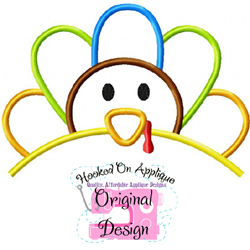 Boy Turkey Topper Applique