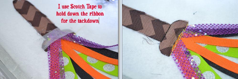 Broom Ribbon Applique