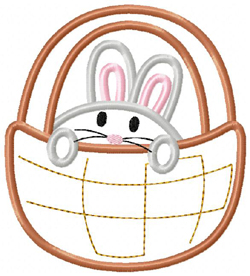 Bunny Basket Boy Applique
