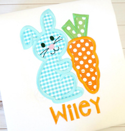 Bunny Carrot Applique
