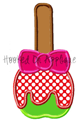 Girly Candy Apple Applique