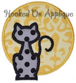 Cat Moon Applique