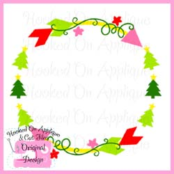 Christmas Tree Arrow Circle CUT FILE