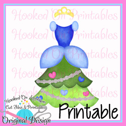Cinderella Tree Dress PNG Printable