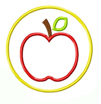 Apple Circle Applique