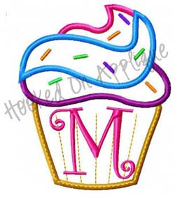 Cupcake Alpha Applique