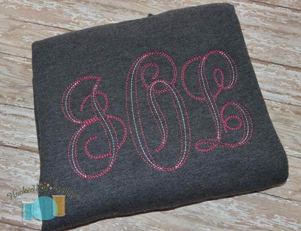Monogram KK Redwork Alpha
