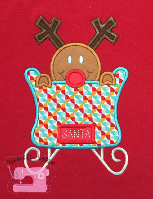 Sleigh Deer Applique