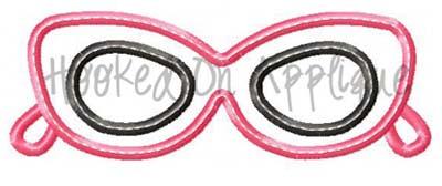 Diva Glasses Applique